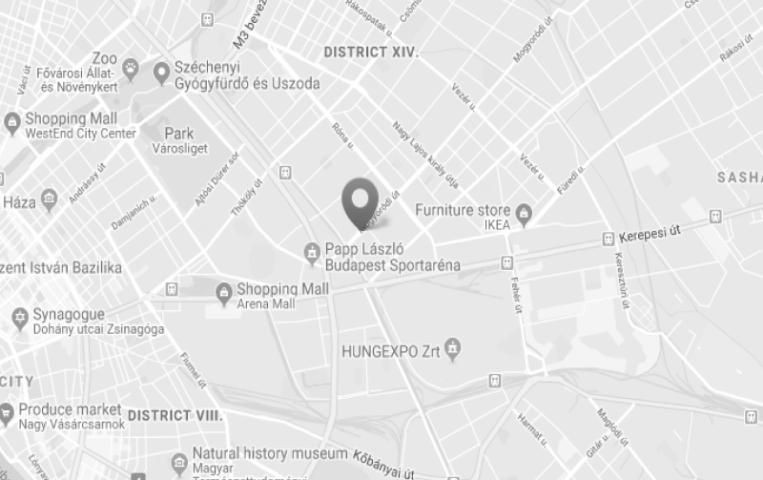 Vitalspa jakuzzi bemutatóterem Térkép