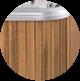 Thermowood standard jakuzzi fa burkolat